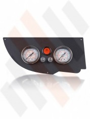 Fiat Ducato | Citroën Jumper | Peugeot Boxer X250 Manometer paneel Ø 40 mm 2-weg Systeem Mat Zwart | Hulpluchtvering