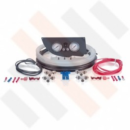 Fiat Ducato | Citroën Jumper | Peugeot Boxer X250 Manometer paneel set Ø 40 mm 2-weg Systeem Mat Zwart | Hulpluchtvering