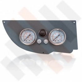 Universeel Manometer paneel Ø 40 mm 2-weg Systeem Mat Grijs met zwarte knop