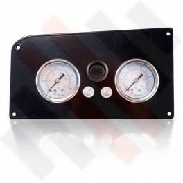 Fiat Ducato X244 Dubbele Manometerpaneel 2-weg systeem Ø 40 mm Zwart Hoogglans met zwarte knop