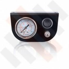Manometer set Ø 40 mm enkel | Hulpluchtvering Universeel Zwart hoogglans met zwarte knop