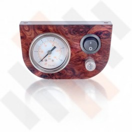 Manometer Paneel Ø 40 mm 1-weg systeem Wortelnoten Hoogglans | Hulpluchtvering