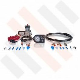 Compressorset Thomas 215 | carbon-look manometerpaneel met enkele manometer