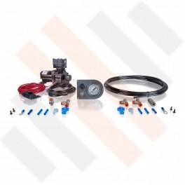 Compressorset Thomas 319 | mat grijs manometerpaneel met enkele manometer