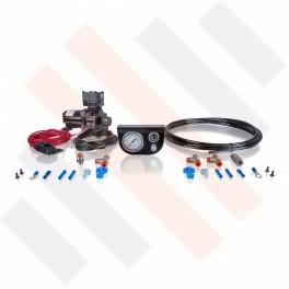 Compressorset Thomas 319 | mat zwart manometerpaneel met enkele manometer