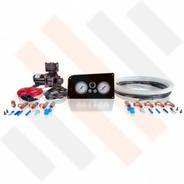 Compressorset Thomas 319 | zwart hoogglans Fiat Ducato X244 manometerpaneel met dubbele manometers