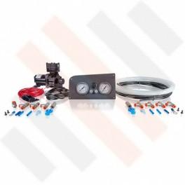 Compressorset Thomas 319 | mat grijs Fiat Ducato X244 manometerpaneel met dubbele manometers