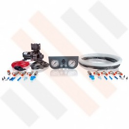 Compressorset Thomas 319 | mat grijs standaard manometerpaneel met dubbele manometers