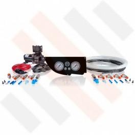Compressorset Thomas 319 | glanzend zwart Fiat Ducato | Citroën Jumper | Peugeot Boxer X250 manometerpaneel met dubbele manometers