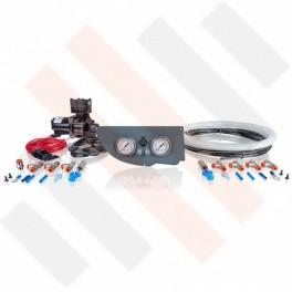 Compressorset Thomas 319 | mat grijs Fiat Ducato | Citroën Jumper | Peugeot Boxer X250 manometerpaneel met dubbele manometers