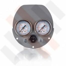 Ford Transit Dubbele Manometerpaneel 2-weg systeem Ø 40 mm grijs | Hulpluchtvering