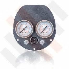 Ford Transit Dubbele Manometerpaneel 2-weg systeem Ø 40 mm mat grijs | Hulpluchtvering
