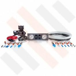 Compressorset Thomas 319 | mat grijs 1 DIN ISO Renault Master X70 manometerpaneel met dubbele manometers