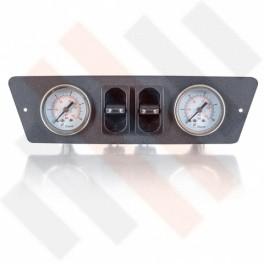 Renault Master X62 Manometer paneel Ø 40 mm 2-weg Systeem mat grijs | Hulpluchtvering