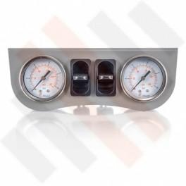 Universeel Inbouw Manometerpaneel 2-weg Systeem Ø 40 mm Grijs | Hulpluchtvering